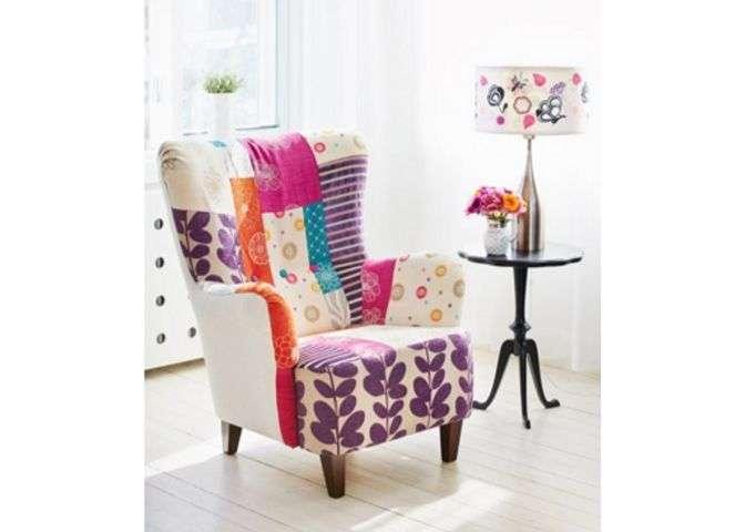 fauteuil en patchwork