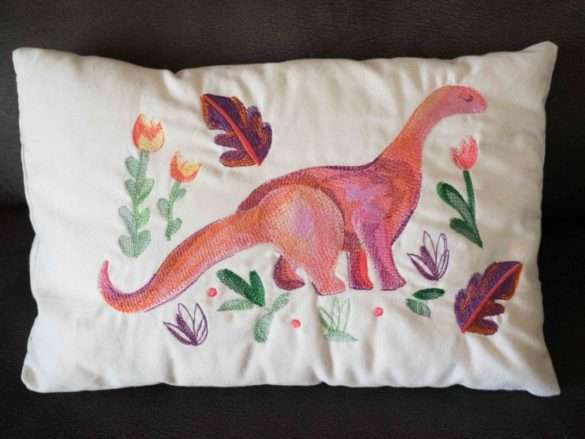 Coussin dinosaure