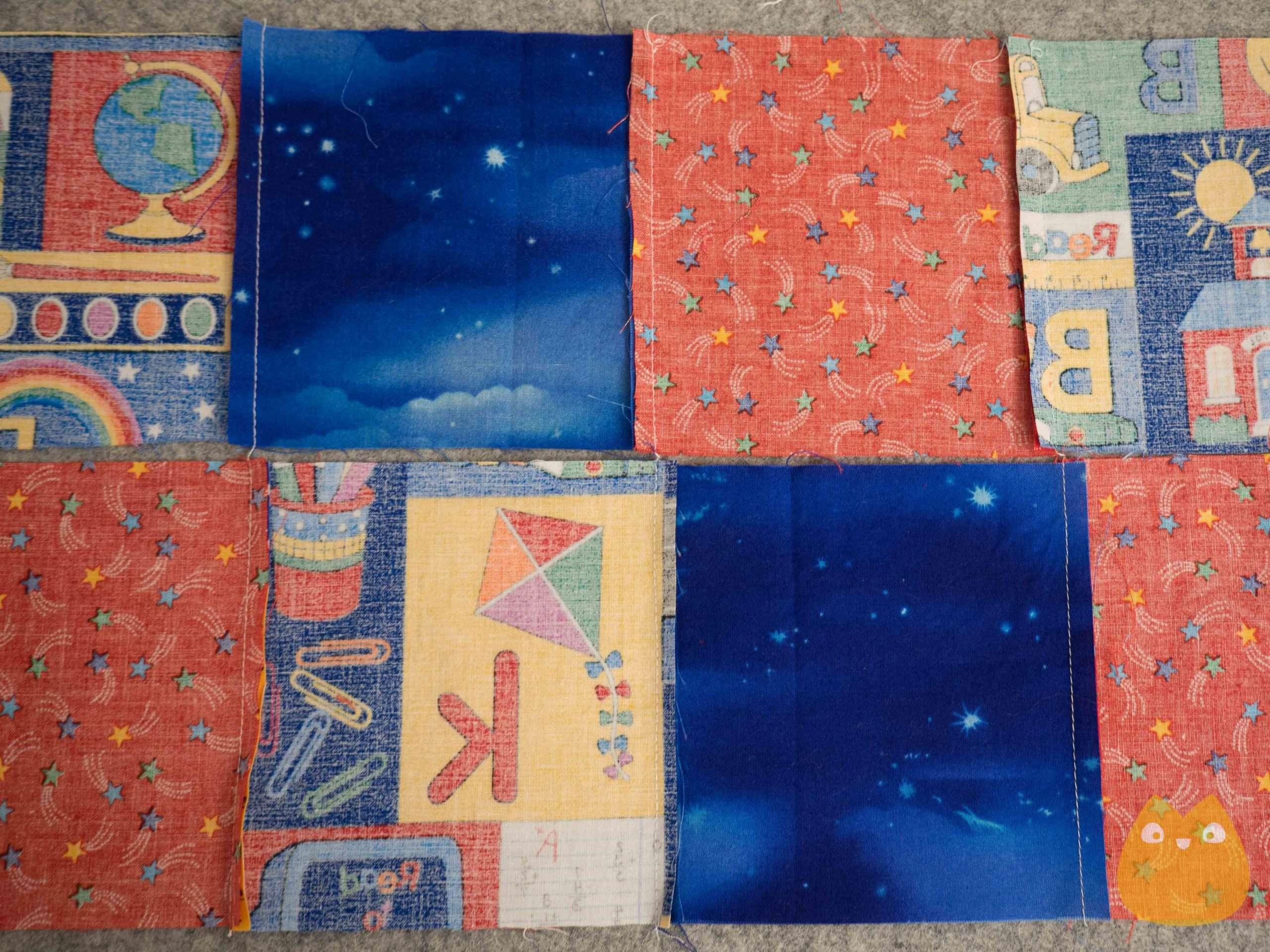 assemblage de carré de patchwork