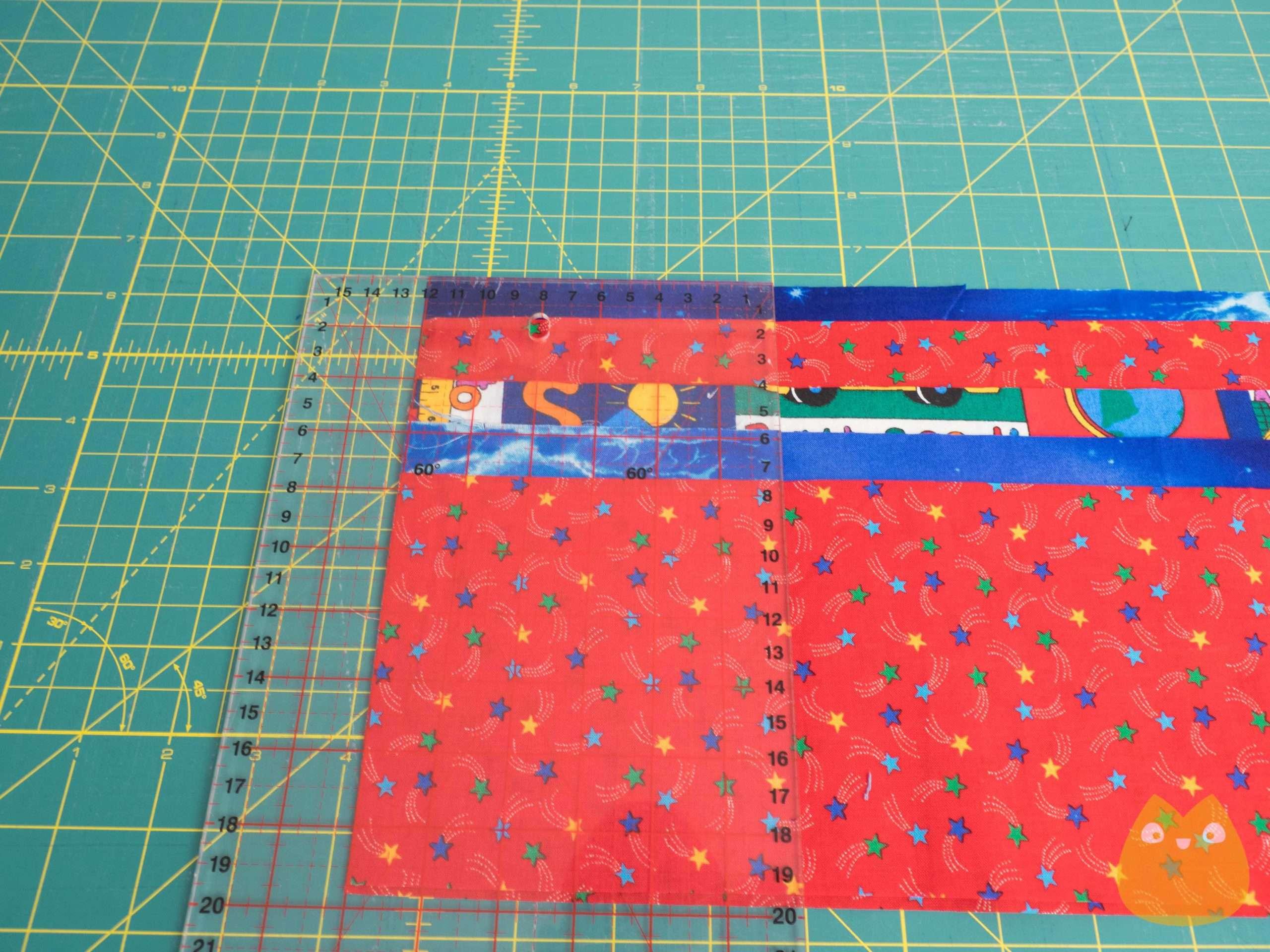 Patchwork : découpe carré