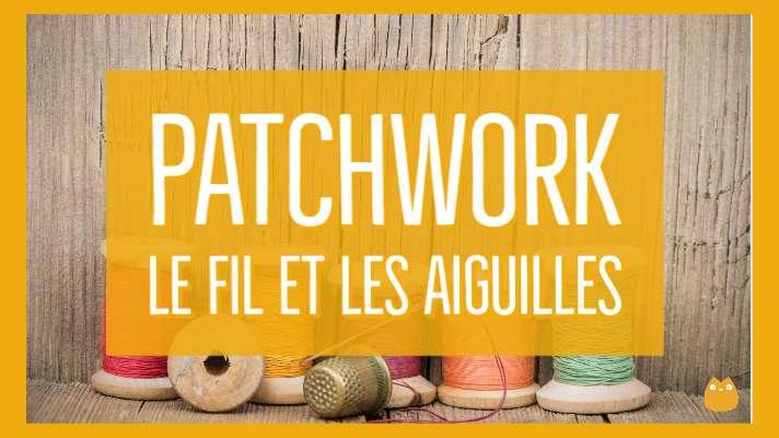 aiguilles, fils, couture, patchwork
