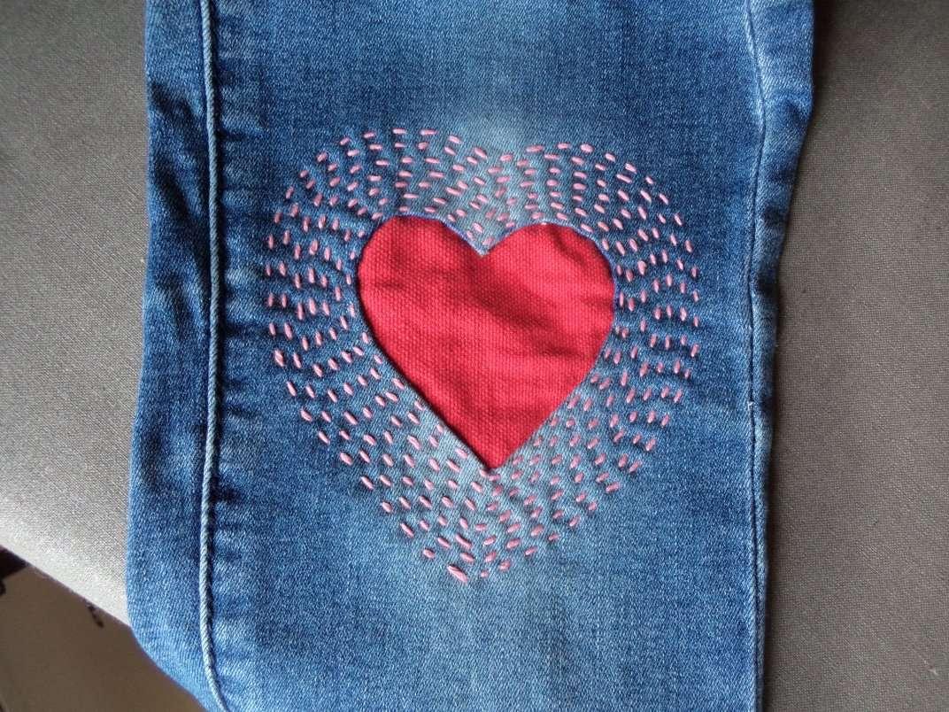 réparér un pantalon en jean