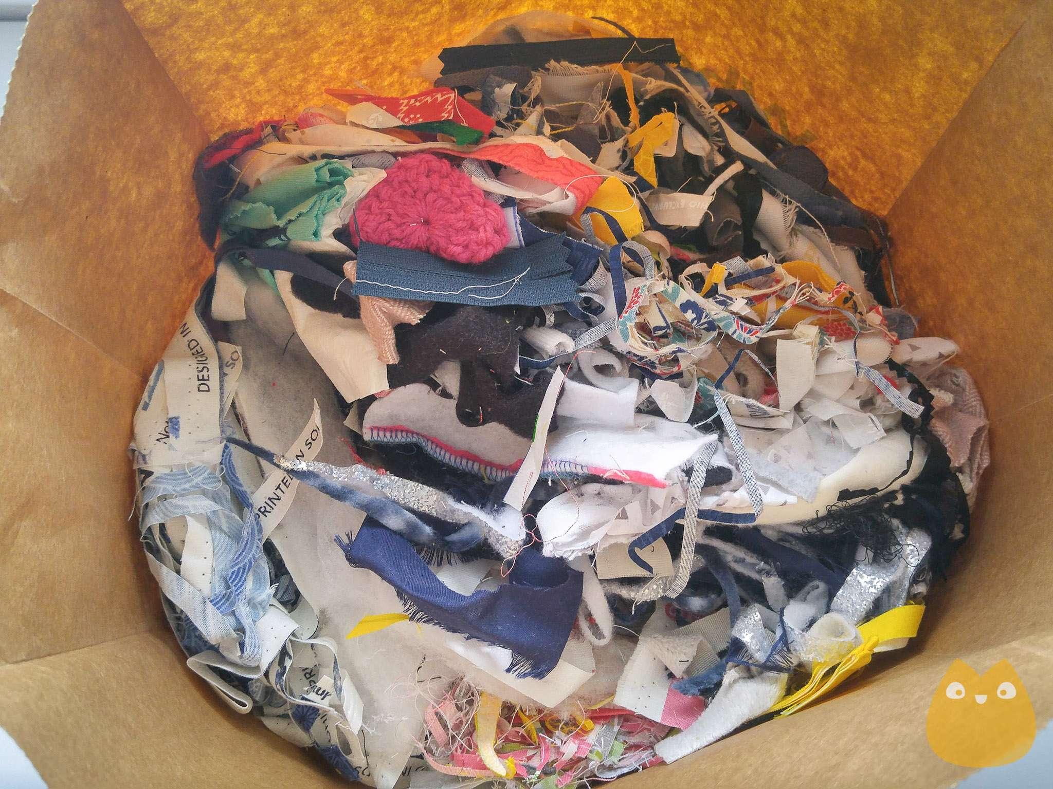 Petits morceaux de tissus pour rembourrage