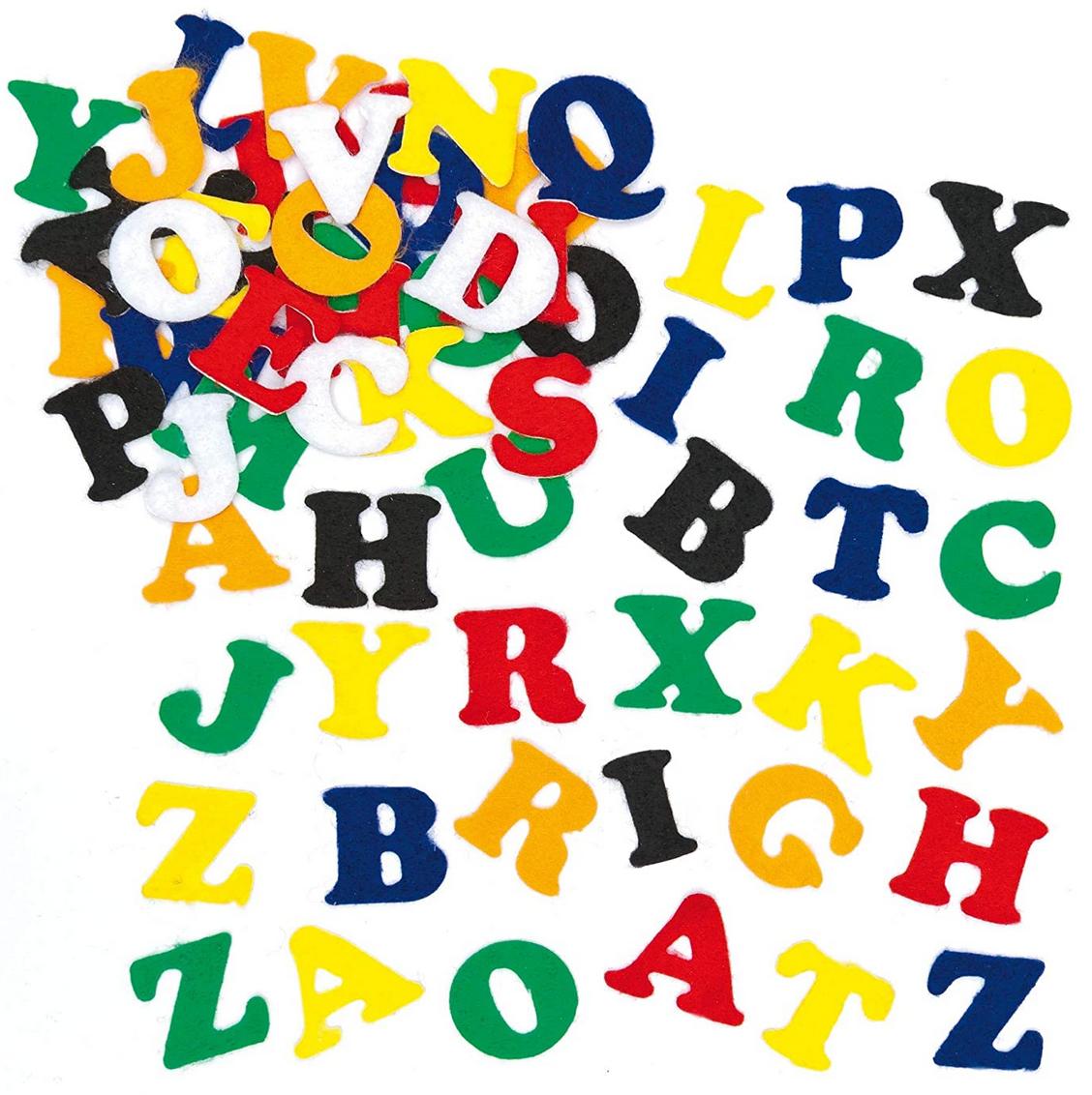 lettres en feutrine