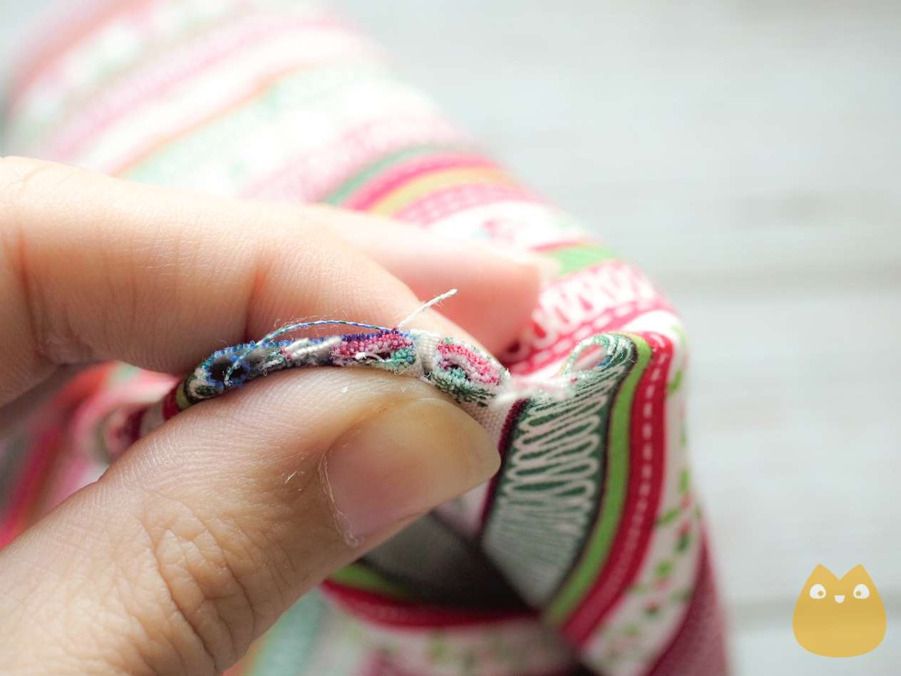 coudre sac à cadeau réutilisable