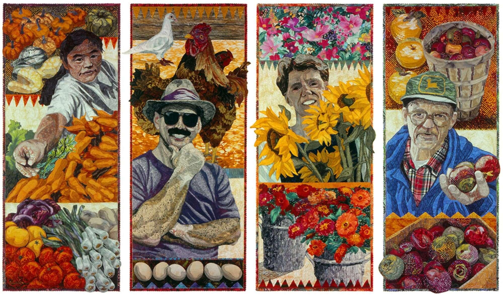 Collage de tissus, collage quilt