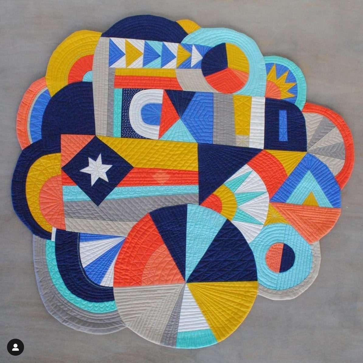 Art quilt, oeuvre d'art en tissu, improvisation