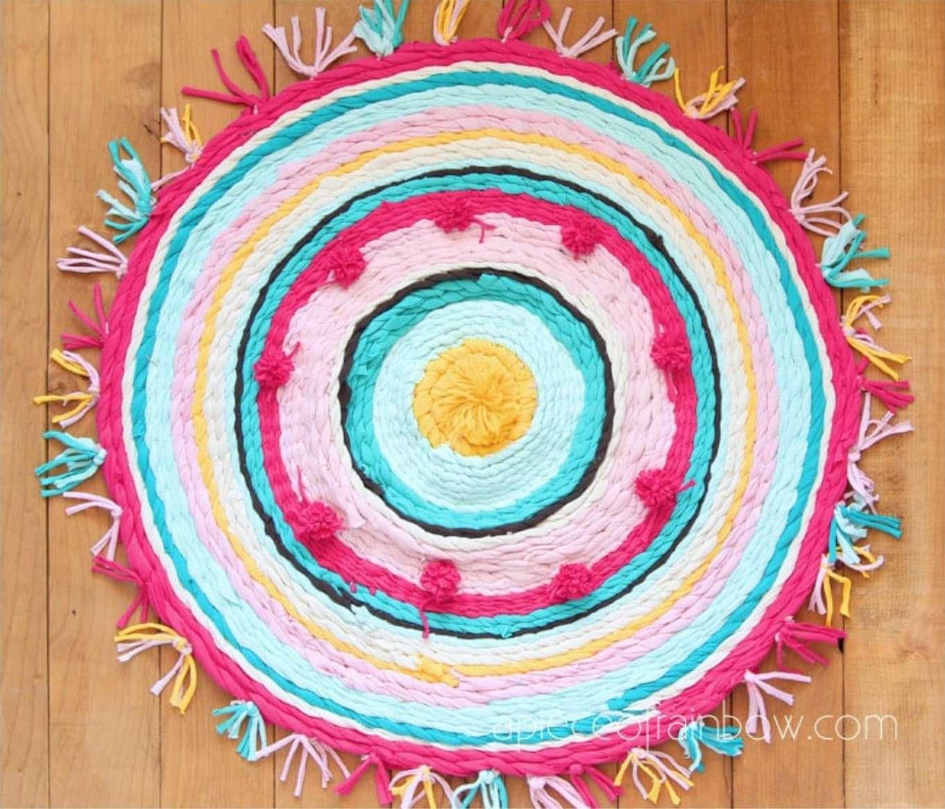 réutiliser ses T-Shirt pour en faire un tapis